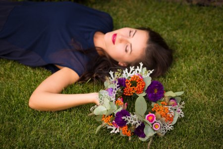 Woman with a flower crown