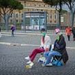 Постер, плакат: Rome Italy November 19 2016: The Invisible Men street performers are gaining popularity on the streets of Rome Street performers are showing a magical trick body without a head
