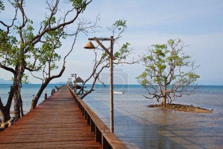 beautiful wooden pier