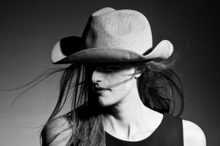 Portrait of sensual woman in hat