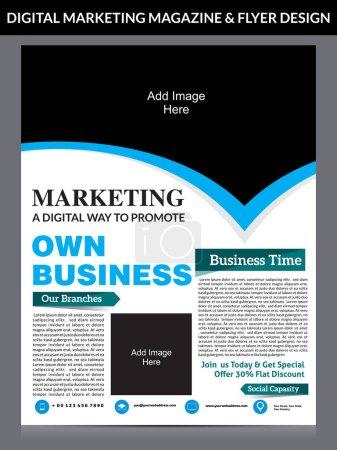digital marketing flyer & magazine design template