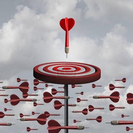 Photo pour Réflexion adaptative et concept innovateur d'affaires comme une métaphore de la stratégie différente comme une illustration 3d. - image libre de droit