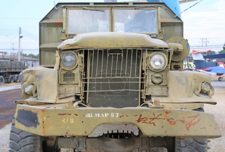 Old military truck in thailand