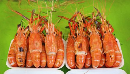 Photo for Grilled Giant River Prawn - Royalty Free Image
