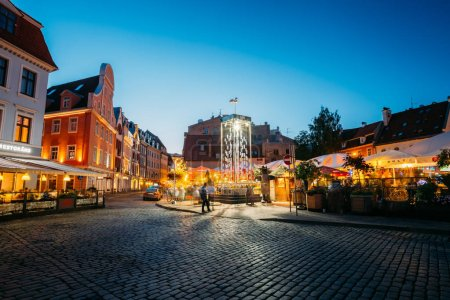 Riga, Latvia. Open Air Leisure Venue Recreation Center Egle In Evening