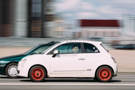 Minsk Belarus White Color Fiat