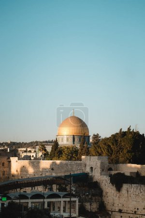 Sight of Dome of the rock and western wall