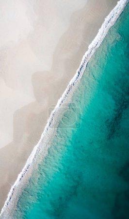 Ocean Beach  in summer. Aerial view