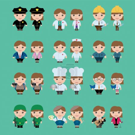 Career Character, vector