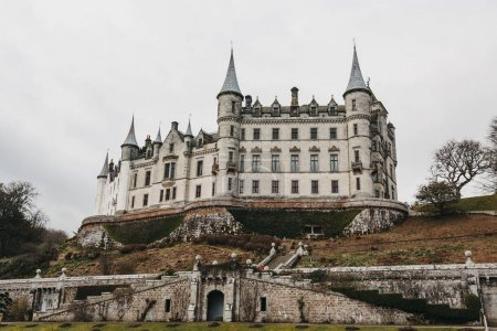 Photo for View of Dunrobin Castle in Golspie, Scotland. - Royalty Free Image