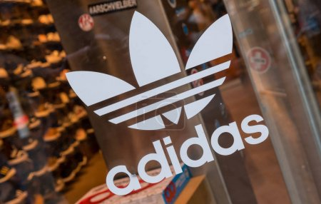 Adidas logo on a store