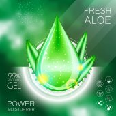Aloe Vera Gel Oil Serum Essence 3D Droplet