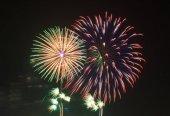 Fireworks in dark night background