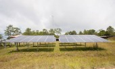 Solar energy panels on a big field