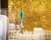 Close up beer dispenser valve
