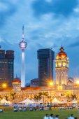 Merdeka Square in downtown Kuala Lumpur at twiligh
