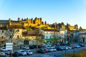 Cathedral Saint Michel of Carcassonne in sunshine day, France