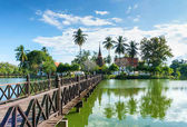 Wat Traphang Thong Temple in the precinct of Sukhothai Historical Park, Thailand