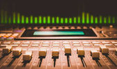 digital sound mixer with volume unit meter