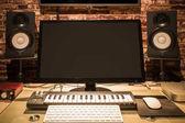 music computer technology & audio & visual digital home entertainment equipment in modern lifestyle