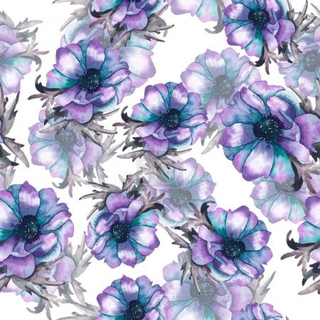 floral seamless pattern with poppies