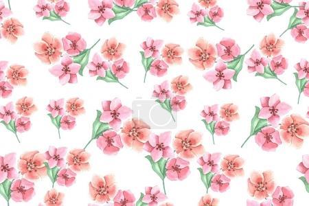 Foto de Patrón floral inconsútil, Ilustración acuarela - Imagen libre de derechos