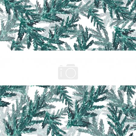 Photo for Background Arborvitae Leaves For Your Text Watercolor - Royalty Free Image