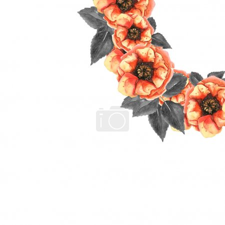 Flowers Painted In Watercolor Decoration