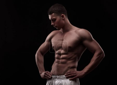 young athlete bodybuilder man