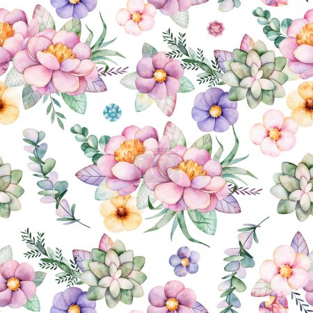 Lovely Seamless pattern with flowers