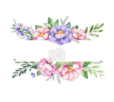Beautiful watercolor border frame