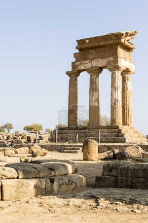 Temple of Castor and Pollux - Valle dei Templi (Temple Valley) in Agrigento, Sicily, Italy