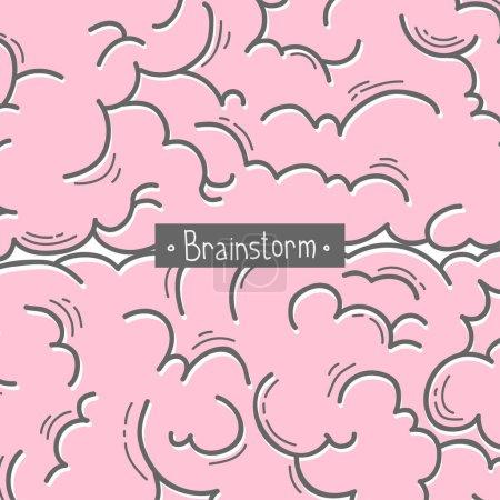Illustration pour Concept créatif du brainstorming. Côté gauche et droit du cerveau humain. Hémisphères. Illustration vectorielle - image libre de droit