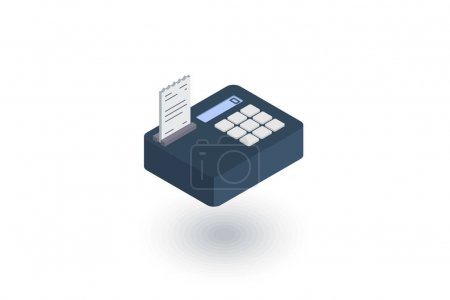 cash register isometric icon