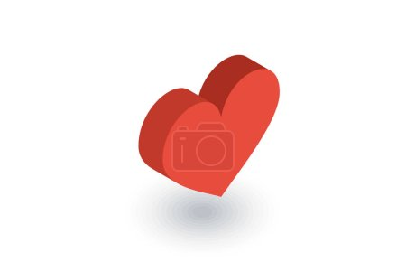 Red heart shape icon