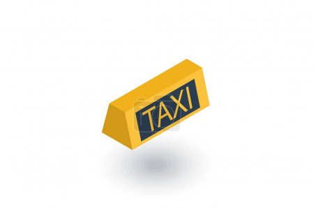 Taxi lamp isometric flat icon. 3d vector