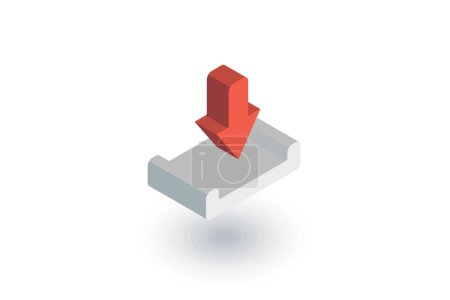 loading shipment isometric flat icon. 3d vector