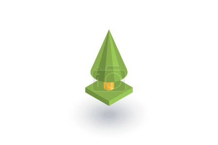 spruce tree flat icon