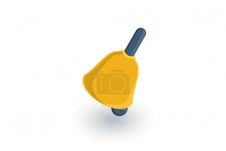 Bell ringer isometric icon