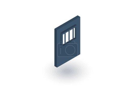 jail gate door flat icon