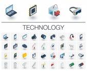 Digital technology isometric icons
