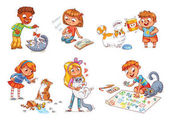 Child care for cat Vector illustration