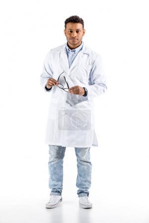 doctor in white coat