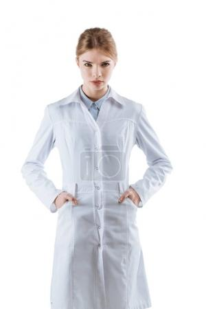 chemist in white coat