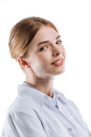 beautiful female chemist