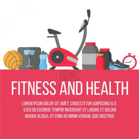Time for fitness poster