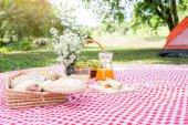 """Постер, картина, фотообои """"Здорового питания и аксессуары открытый летом или весной пикник, Pi"""""""