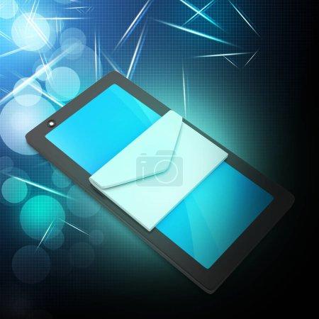 Photo pour Tablette avec e-mail - image libre de droit