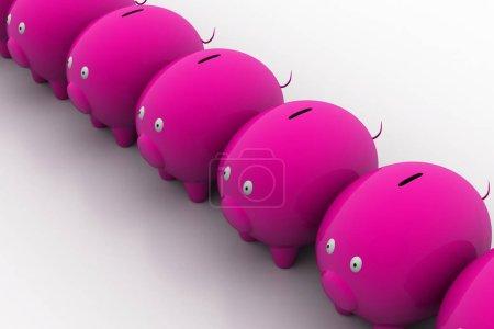 Photo pour Illustration 3d Concept de croissance des investissements - image libre de droit
