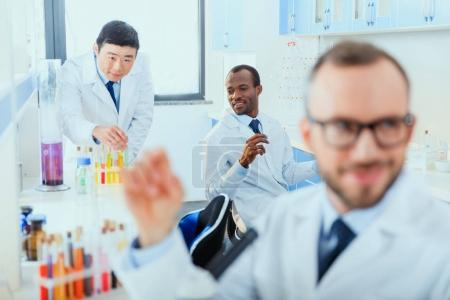 doctors working at testing laboratory